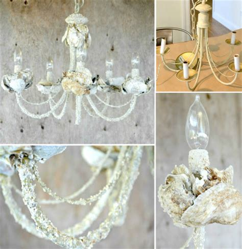 easy diy chandelier diy shell chandeliers completely coastal