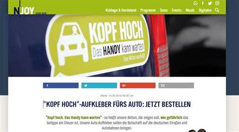 Kostenlos Aufkleber Auto by Kopf Hoch Kostenlose Aufkleber F 252 R S Auto Bestellen
