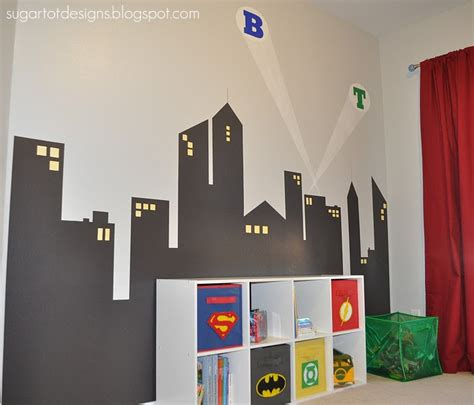 superhero bedrooms sugartotdesigns boys superhero room reveal