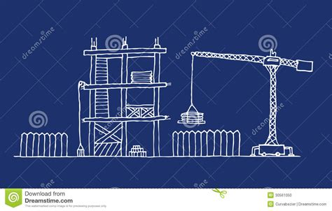 construction blueprint construction site cartoon blueprint stock photo image