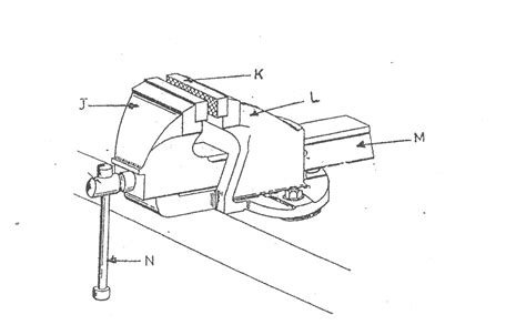 diagram of bench vice bench vise drawing