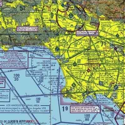 Los Angeles Sectional Chart by Faa Nprm Lax Vfr Corridor Upgrades Aero News Network