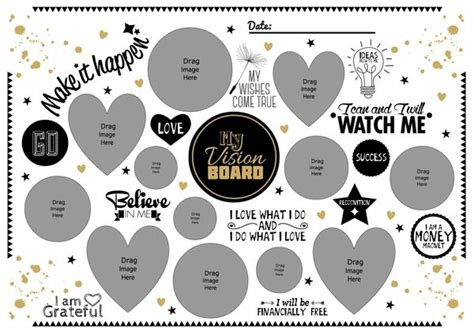 Home Planer vision board template best template examples within