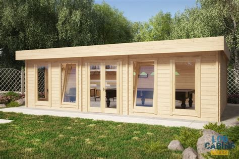 the snooker room 8 4m x 5 6m 70mm log log cabins 4 less