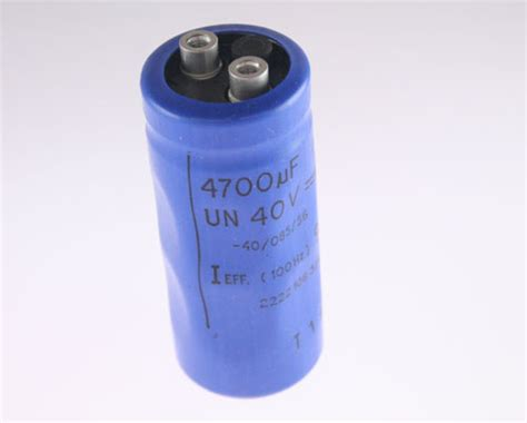philips capacitors 2222 2222 106 37472 philips capacitor 4 700uf 40v aluminum electrolytic large can computer grade