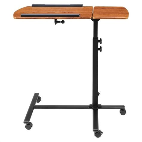 altra furniture laptop cart in cherry and black 9234096