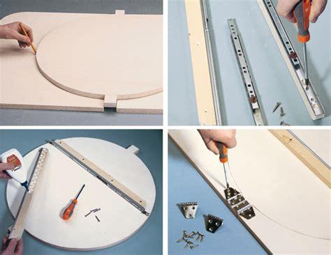 costruire tavolo allungabile tavolo rotondo allungabile bricoportale fai da te e