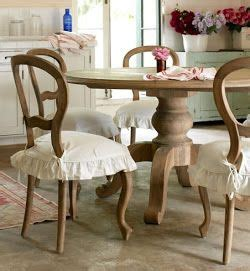 Dining Room Chair Cushions With Ruffles Paint Me White For The Home