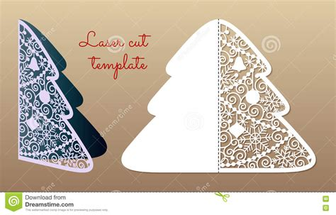 laser printable christmas cards tree cutout template laser cut leaf card cutout paper