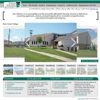 topeka housing authority portfolio 187 websites napier communications inc