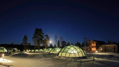 igloo to watch northern lights hotel kakslauttanen glass igloo finland stay here