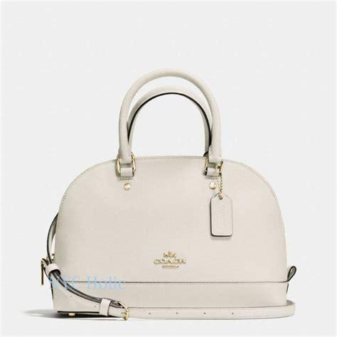 Coach Bag Chalk by Coach F57555 Mini Satchel In Crossgrain Leather Chalk Dome Purse Nwt Ebay