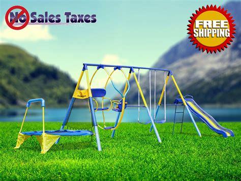 metal playground sets for backyards swing set for backyard outdoor metal playground toddler kids slide gogo papa