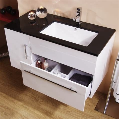 black and white bathroom vanity unit eden 100 wall mounted vanity unit black and white