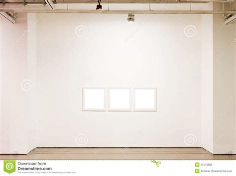 blank gallery wall blank frames on the wall royalty free stock photo image