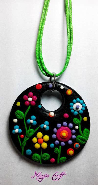 fiori in fimo collana fiori in fimo gioielli collane di magiecraft