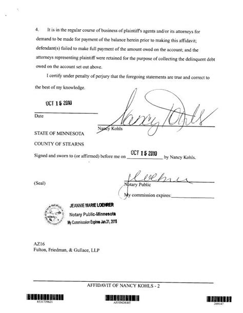 sample notary statements template business
