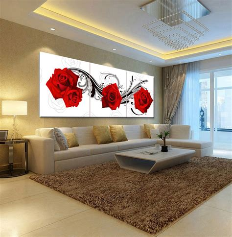 Decorative Paintings For Living Room by Picture Painting Roses Flower Living Room Bedroom Home