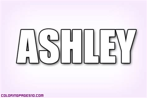 coloring pages of the name ashley free coloring pages of ashley letters