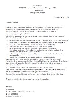 a cover letter is an advertisement sle advertisement letter smart letters