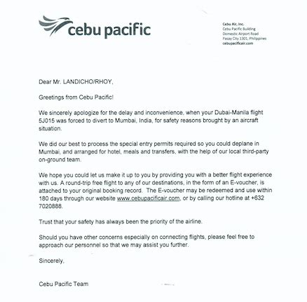 apology letter for cancellation of flight stranded cebu pacific passengers decry terrible crisis