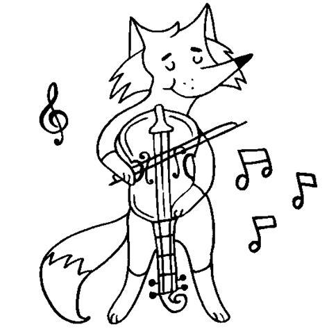 playing violin coloring page desenho de raposa violonista para colorir tudodesenhos