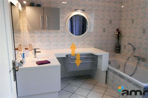 am 233 nagement salle de bains hauteur variable pour handicap