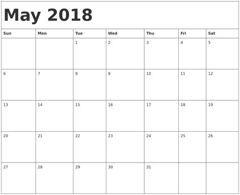 Calendar 2018 May June July March 2018 Calendar