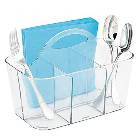 Dining Table Caddy Metrod 233 Cor Silverware Caddy Organizer Dining Table Clear Home Garden Kitchen Kitchen Tools