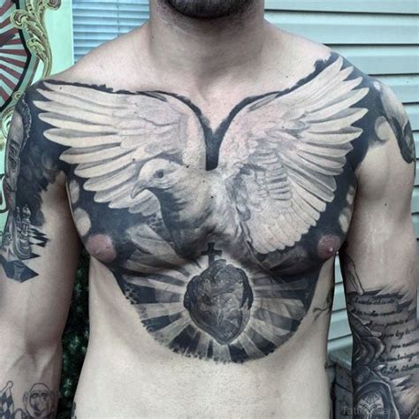 dove chest tattoos 40 ultimate dove tattoos for chest