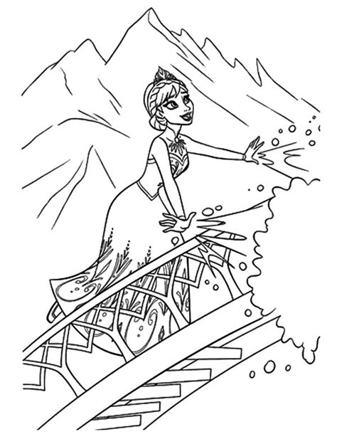 frozen coloring pages elsa ice castle 91 coloring pages queen elsa interesting free