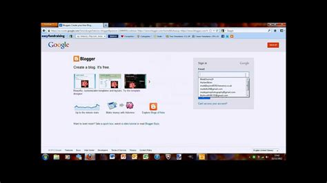 tutorial blogger youtube tutorial how to create a blog using google blogger youtube