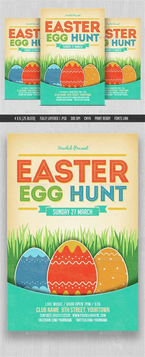 easter flyer template church easter egg hunt flyer template www imgkid