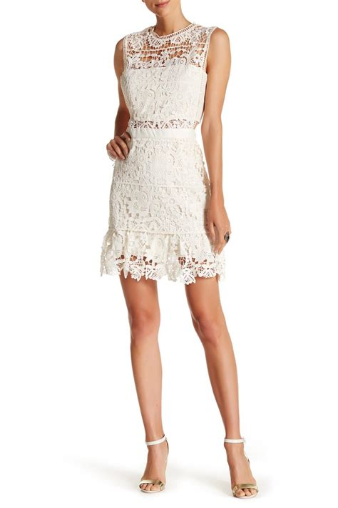 Romeo Dress romeo and juliet couture sleeveless lace dress in white lyst