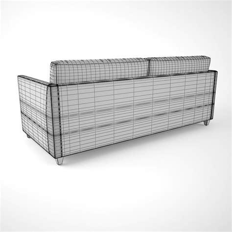 crate and barrel apartment sofa crate and barrel dryden apartment sofa 3d model max obj