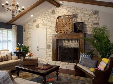 hgtv decor rustic living room designs hgtv decorating rustic living room with stone fireplace hgtv