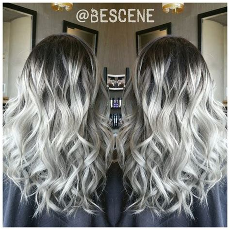 platinum gray ombre hairstyles wurzeln ombr 233 hair and ombre hair on pinterest