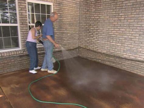apply concrete stain  tos diy