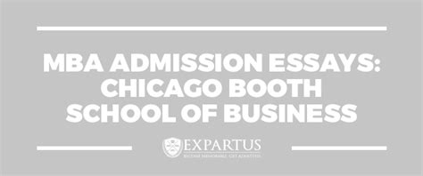 Mba Admission Essay Consultant by Expartus Consulting Mba Admission Essays Chicago Booth
