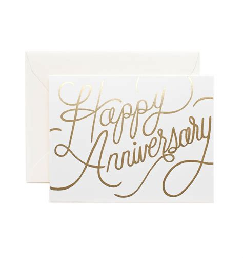 Wedding Anniversary Usa by Happy Anniversary Greeting Card By Rifle Paper Co Made