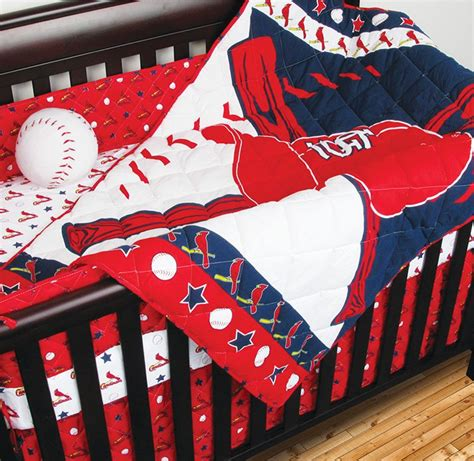 baseball baby bedding 4pc mlb st louis cardinals crib bedding set baseball baby quilt sheets bedskirt ebay