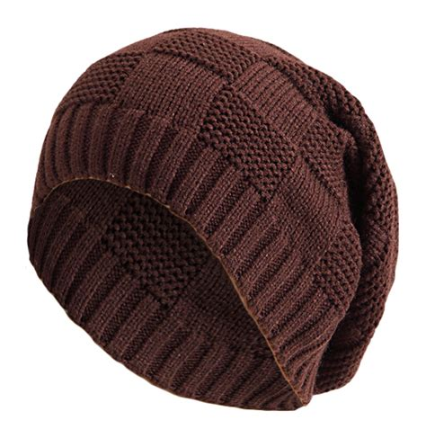 mens slouchy beanie knitting pattern s s knitted cap striped design pattern