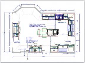 plans kitchen drafting service floor island shaped