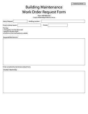 Work Order Request Form Templates Fillable Printable Sles For Pdf Word Pdffiller Work Order Request Template