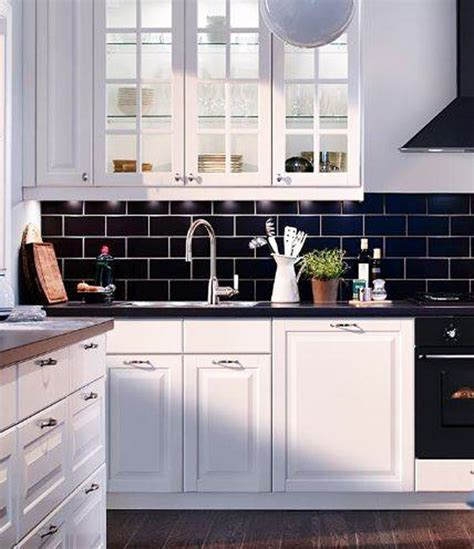 black subway tile backsplash inspiration to add subway tiles in your kitchen home