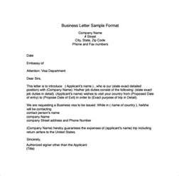 letter to a business format business letters format 15 free documents in