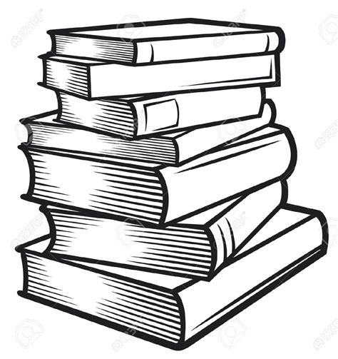 Stack Of Books Clipart Clipartix Drawing Books For Free
