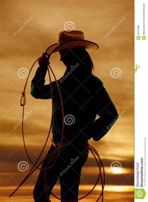 imagenes de vaqueras hermosas cuerda de la vaquera de la silueta de la mujer fotos de