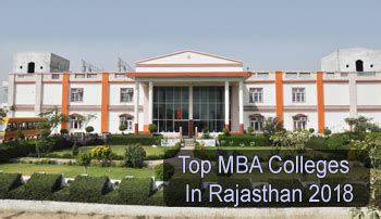 Best Mba Colleges In by Top Mba Colleges In Rajasthan 2018 List Rating