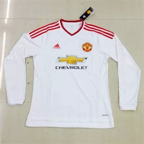 Jersey Manchester United Ls 2015 16 manchester united away soccer jersey ls
